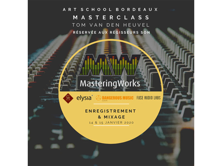 "Masterclass ""Enregistrement & mixage"" avec Tom de Mastering Works"