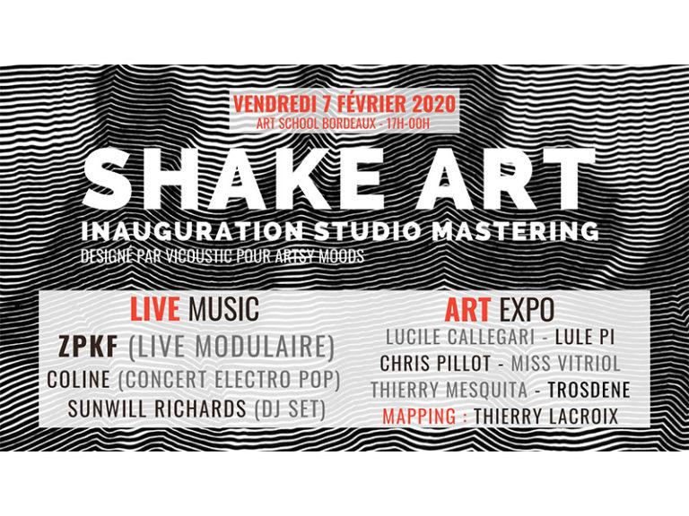 SHAKE ART #23 – INAUGURATION STUDIO MASTERING