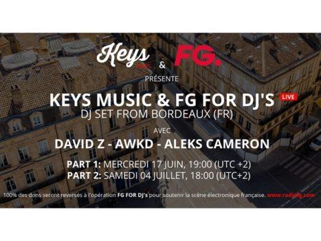 """Art School soutient l'événement de Keys Music en faveur de l'opération """"FG For DJ's"""""""