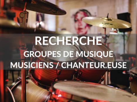 Appel à projet : recherche de musiciens/groupes de musique