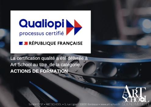 Art School est certifié Qualiopi !
